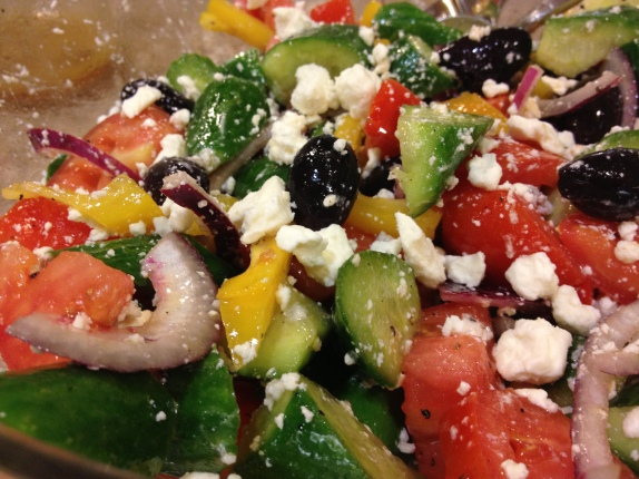 My home-made delicious Greek Salad