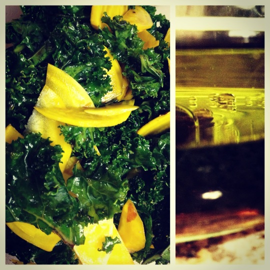 Kale and Golden Beet Salad with Balsamic Vinaigrette